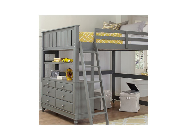 Lake House Twin Loft Bed Only (Stone)
