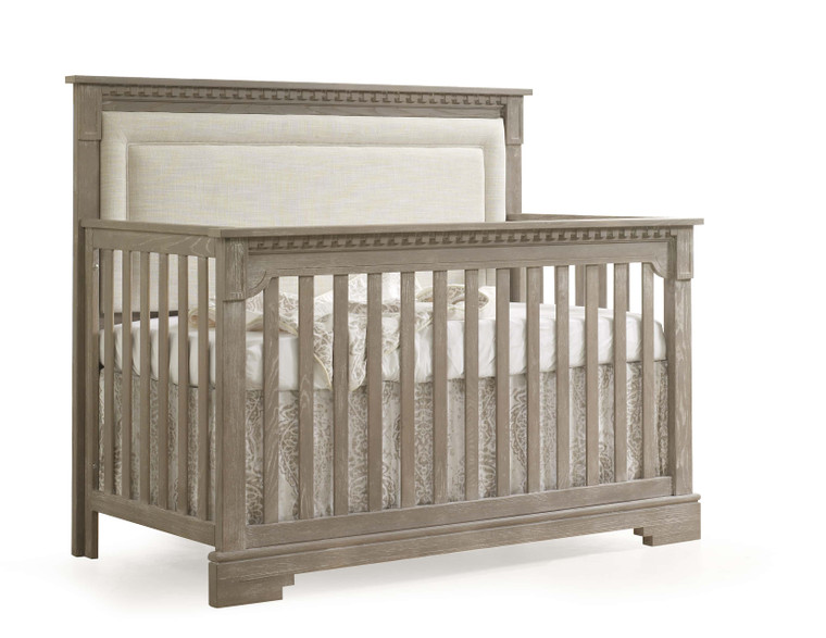 Ithaca Convertible Crib with Linen Weave Upholstery