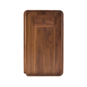 MARLEY BLACK WALNUT ROLLING TRAY Large