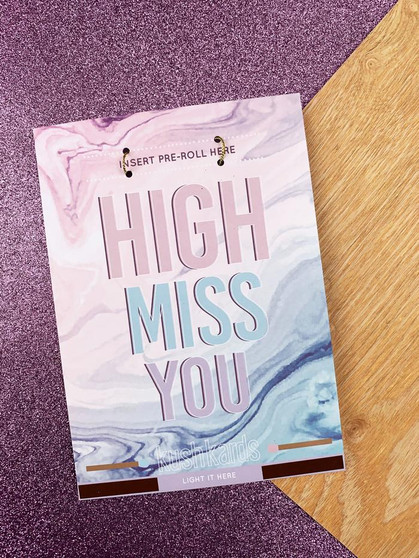 High Miss You Greeting Card