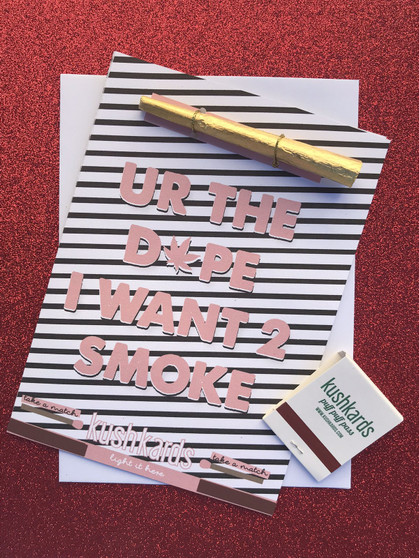 DOPE SMOKE Greeting Card
