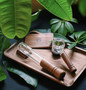 Marley Natural Glass & Walnut Spoon Pipe