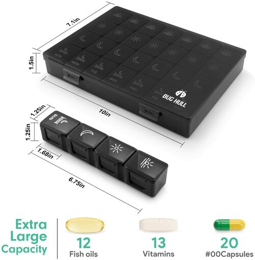 bug hull 7 day pill organizer