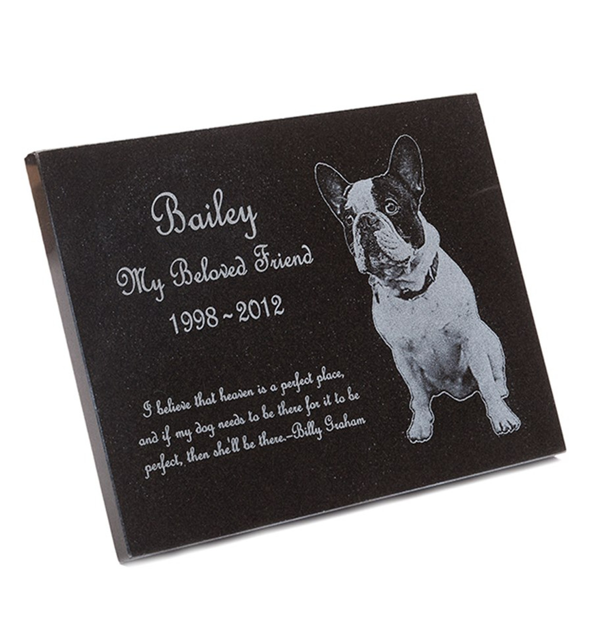 Granite Stone Pet Memorial Plaque