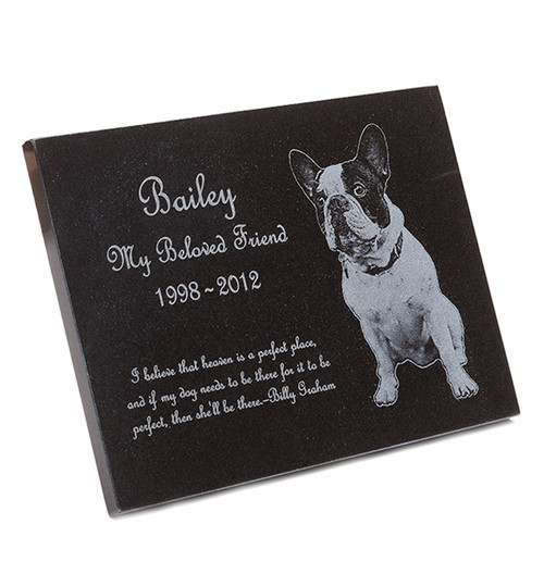 Pet Memorial Plaque - Granite Stone