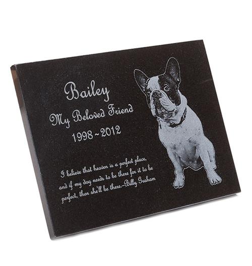 Pet Memorial Plaque - Granite Stone