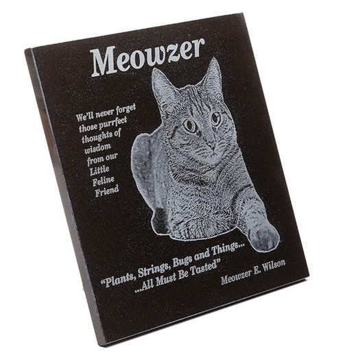 Cat lovers granite plaque
