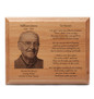 Laser Engraved Wooden Memorial Plaque