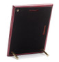 Back of High Gloss Piano Finish Plaque showing hanging slots and display pegs