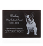 Pet Memorial Plaque Black Granite Stone