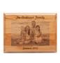 Family photo laser engraved on alder wood plaque