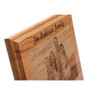 Laser Engraved Wood Family Photo Plaque closeup
