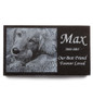 Engraved Pet Memorial Granite Stone Front View