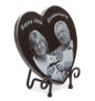 Heart Shaped granite plaque on iron stand