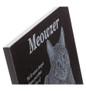 Granite plaque closeup with cat photo