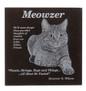 Cat lovers granite plaque front