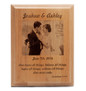 Personalized engraved wedding commemoration plaque