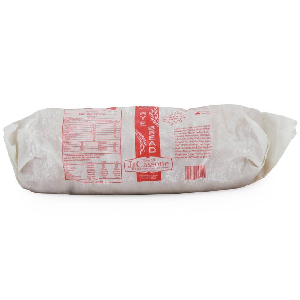 36 Slice Rye Bread (Frozen) - 3lb
