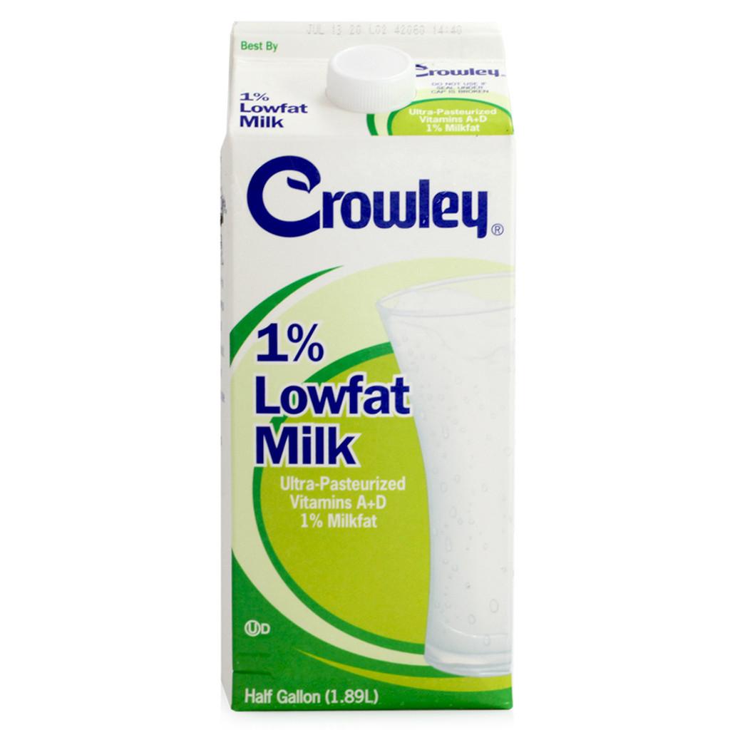 Crowley 1% Lowfat Milk - 0.5gal