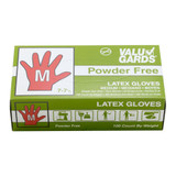 Medium Powder Free Latex Gloves - 100ct