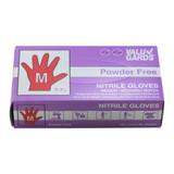 Medium Powder Free Nitrile Purple Gloves - 100ct