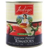 Italian Peeled Plum Tomatoes With Basil - 105oz x 6