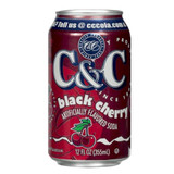C&C Black Cherry Soda - 12oz x 24