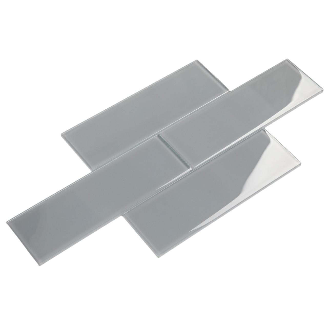 Giorbello Glass Subway Tile 4 X 12 True Gray