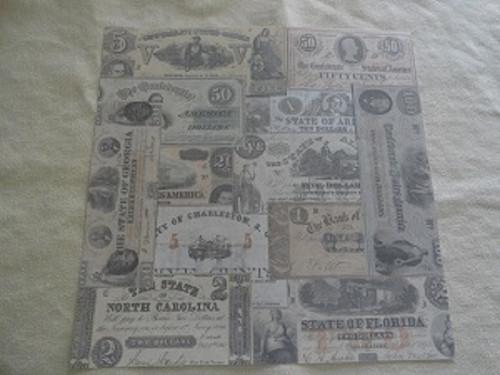 Confederate Currency #2 12x12 Scrapbook Paper