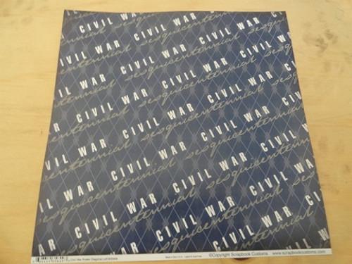Civil War Sesquicentennial 12x12 Scrapbook Paper