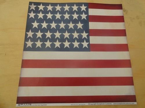 Civil War Union 34 Star Flag 12x12 Scrapbook Paper