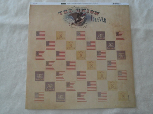 Union Forever 12x12 Scrapbook Paper
