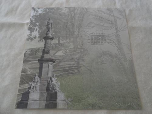 Civil War Gettysburg Map 12x12 Scrapbook Paper