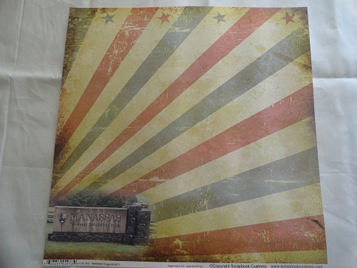 Civil War Manassas 12x12 Scrapbook Paper