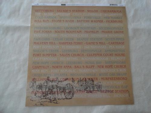 Civil War Battles Scrapbook Paper