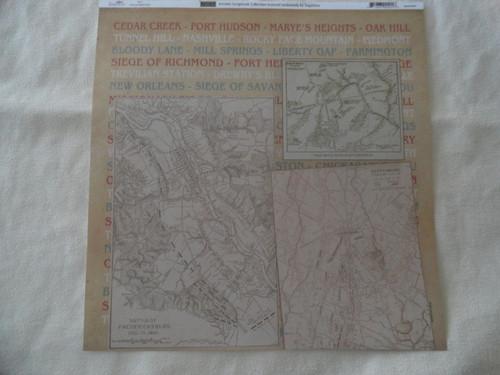 Civil War Battles and Maps Scrapbook Paper
