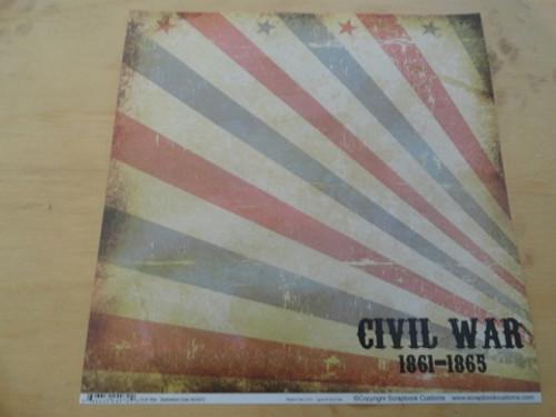 Civil War Dated Scrapbook Paper