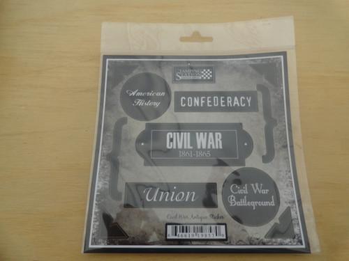 Civil War Scrapbook Antique Stickers