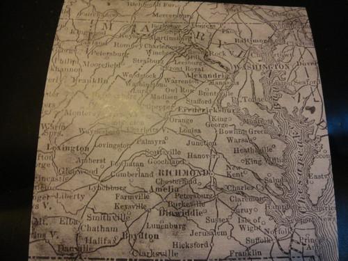 Virginia Map Scrapbook Paper
