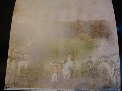 Revolutionary War Battle of Yorktown Left Scrapbook Paper