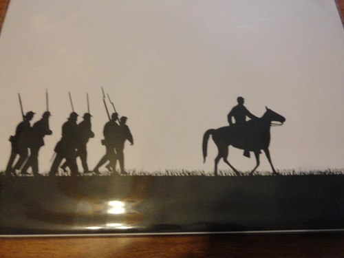 Forward March Silhouette Scrapbooking