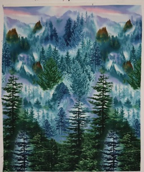 Misty Forrest Cotton Fabric