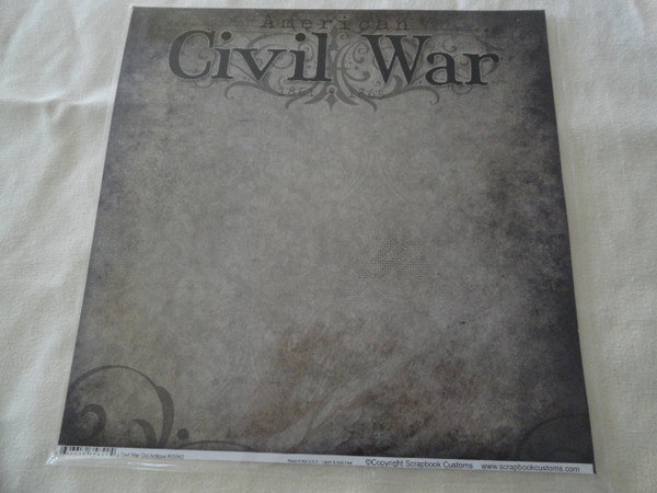 Civil War Antique Look Scrapbook Paper