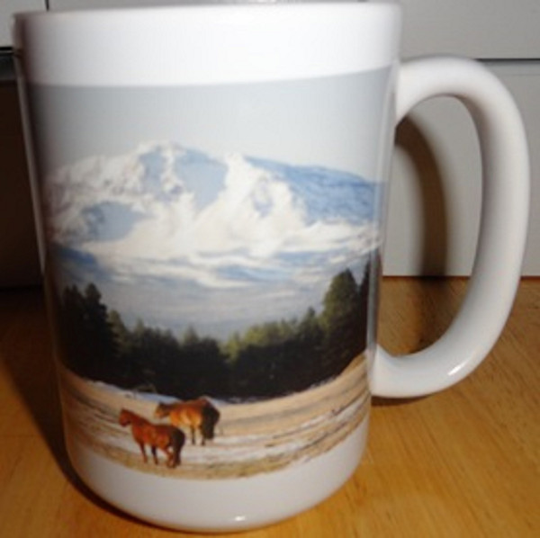 Winter Horse Scene 15 oz Coffee Mug