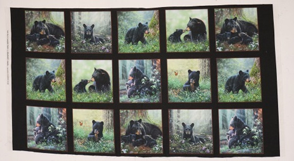 Tender Moments Momma Bear and Baby Bear Cotton Fabric