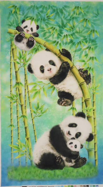 Panda Sanctuary Fabric Panel
