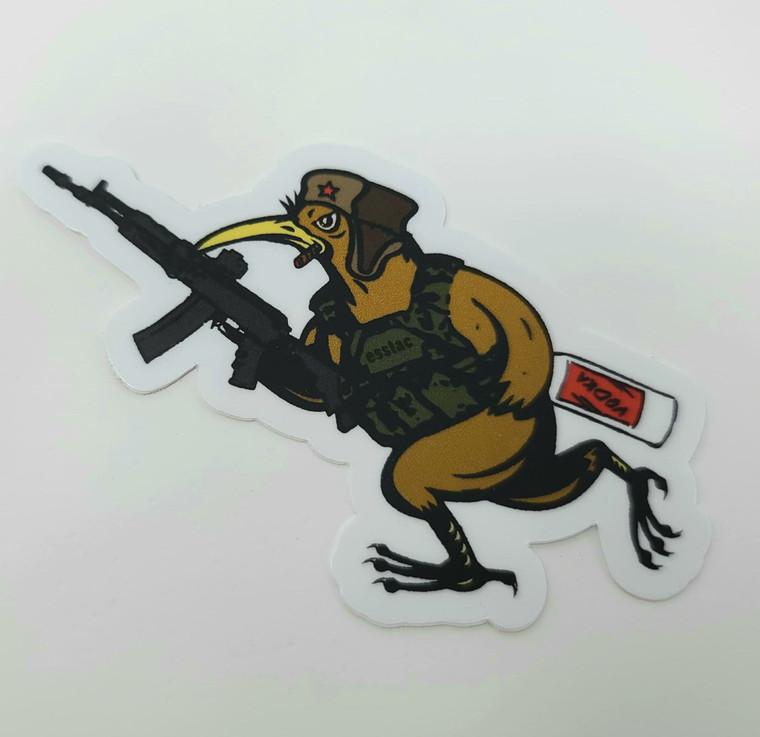 Russian Battle KYWI Bird Sticker