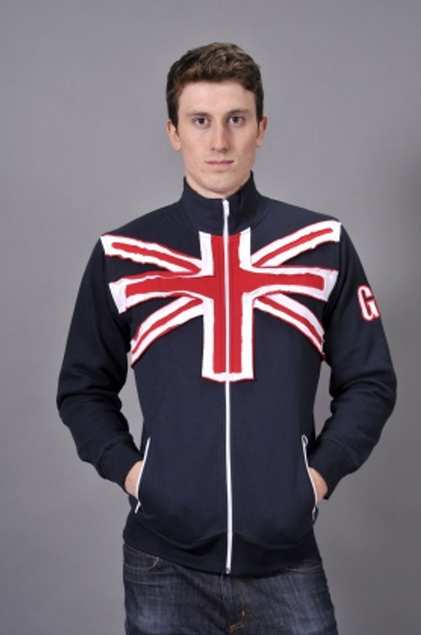 Mens Union Jack Zip Top
