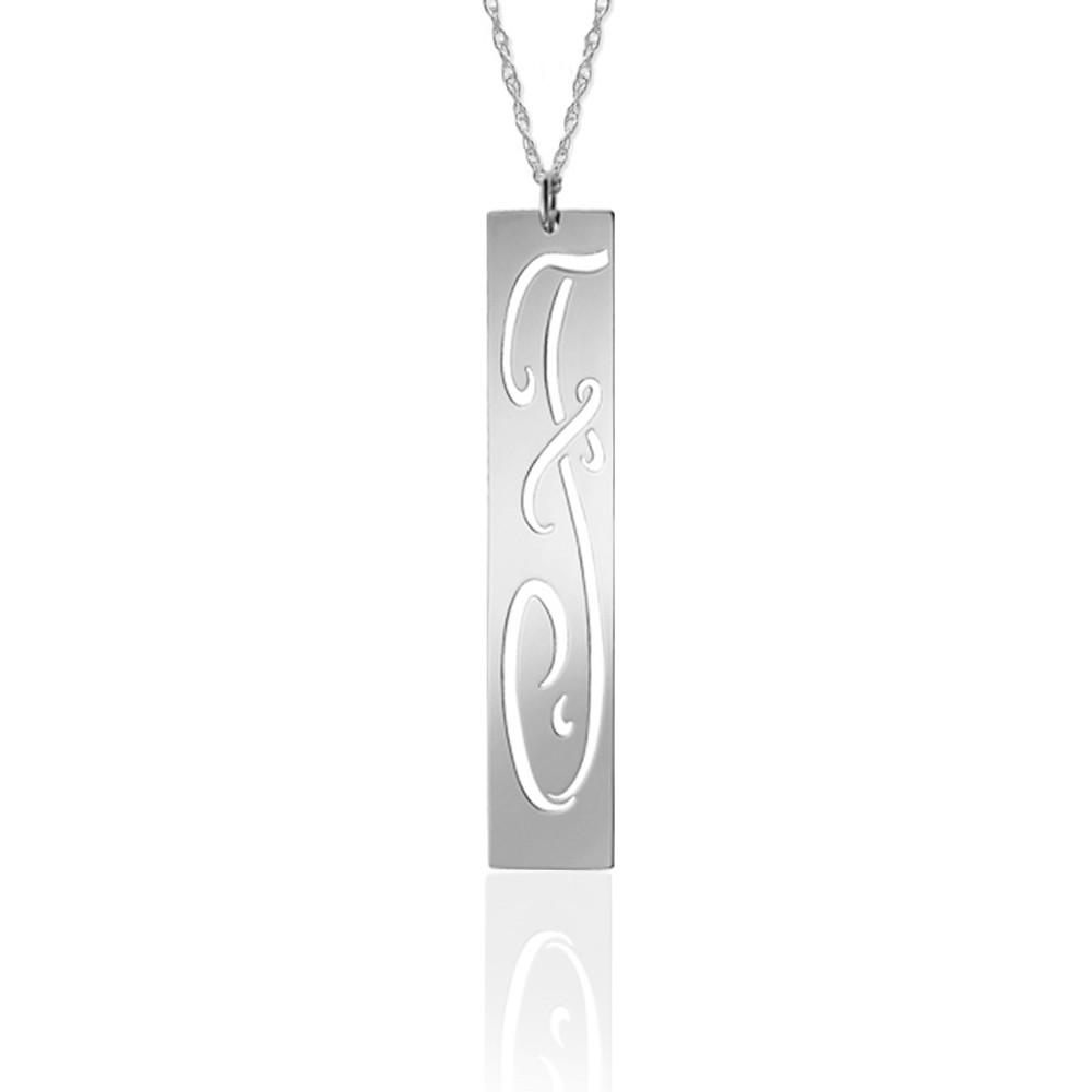 Pierced Initial on a 36″ Chain