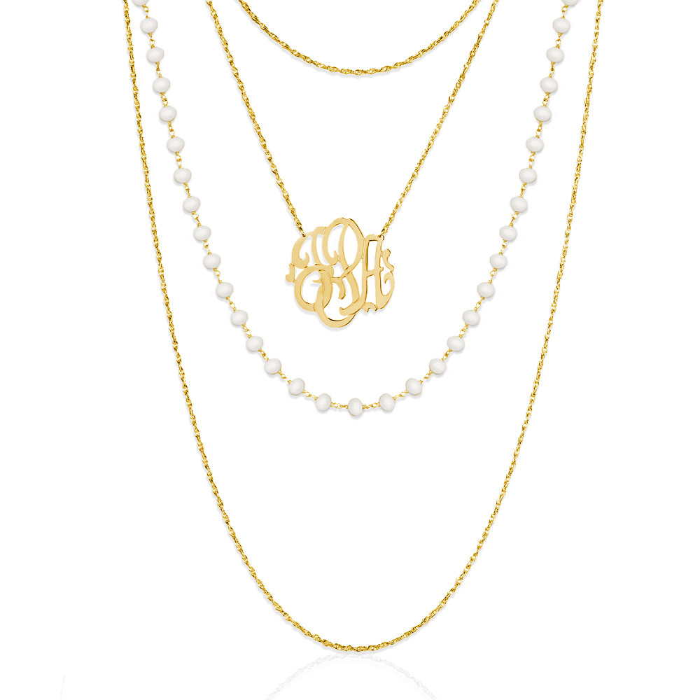 Monogram Multi-Strand Necklace